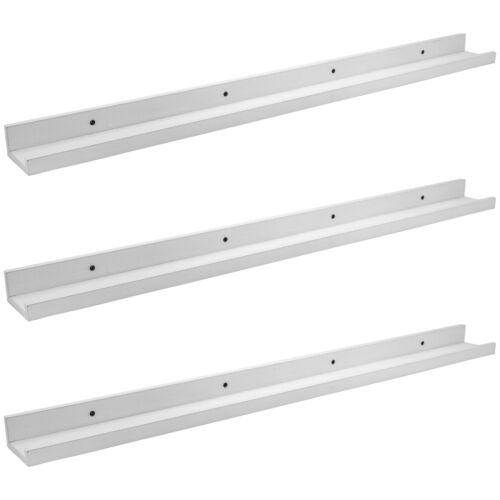 91.5cm Set of 3 White Floating Picture Photo Shelf Shelves Photo Rail