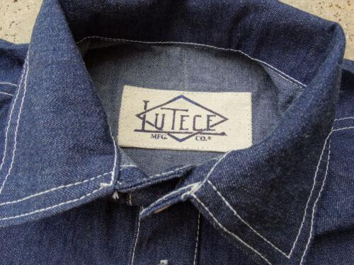 Denim Worker Shirt Jean Shirt 1937 Lutece Mfg Us Army Navy Heritage Rugged Wear