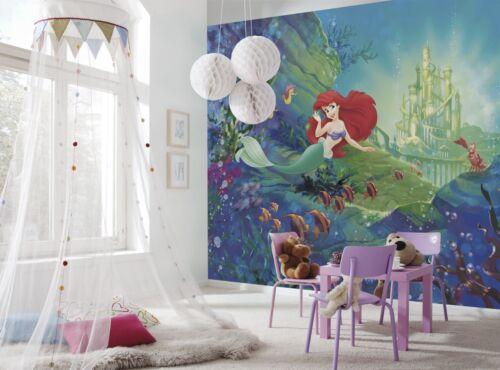 Giant Wall mural Wallpaper MERMAID Ariel/'s Castle disney kids room NO ADHESIVE