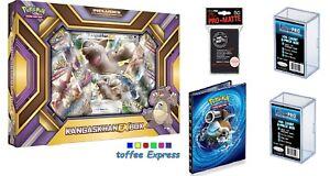 Pokemon-EX-XY-Gift-Bundle-Kangaskhan-EX-Box-Ultra-Pro-folder-Storage-box-sleeve