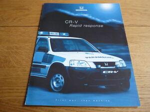 Honda cr v rapid response ambulance brochure jm ebay for Honda cr v brochure