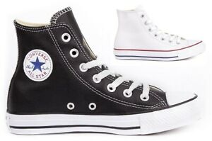 Details about CONVERSE Chuck Taylor All Star Leather Sneakers Shoes Boots Womens Original New
