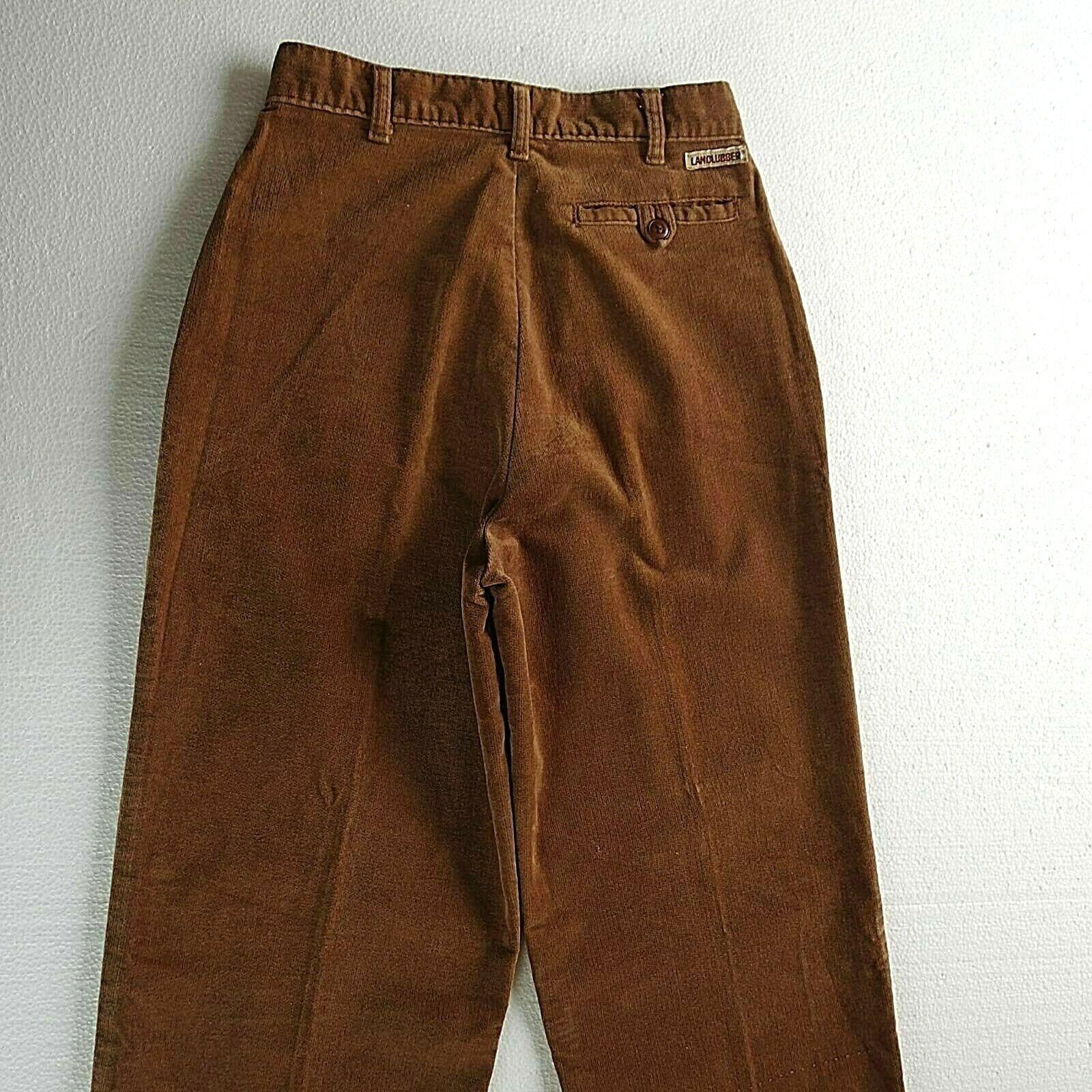 Vintage LANDLUBBER Brown sz 7 Pants Pleats High W… - image 6