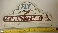 Fly Sacramento Sky Ranch Incorporated License Plate Topper metal tin
