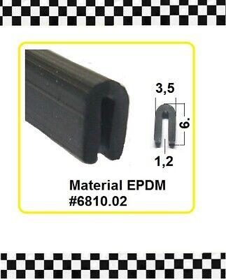 Baustoffe & Holz Karosserie & Exterieur Styling 1,2mm Gummidichtung Gummiprofil 6810.02 Aus Berlin 4,5m Kantenschutz € 3,95/m F