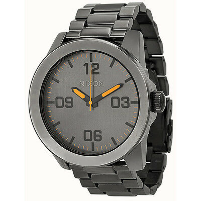 Nixon Corporal Steel Grey Stainless Steel Mens Watch A346-1235