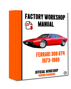Details about >> OFFICIAL WORKSHOP Manual Service Repair Ferrari 308 on