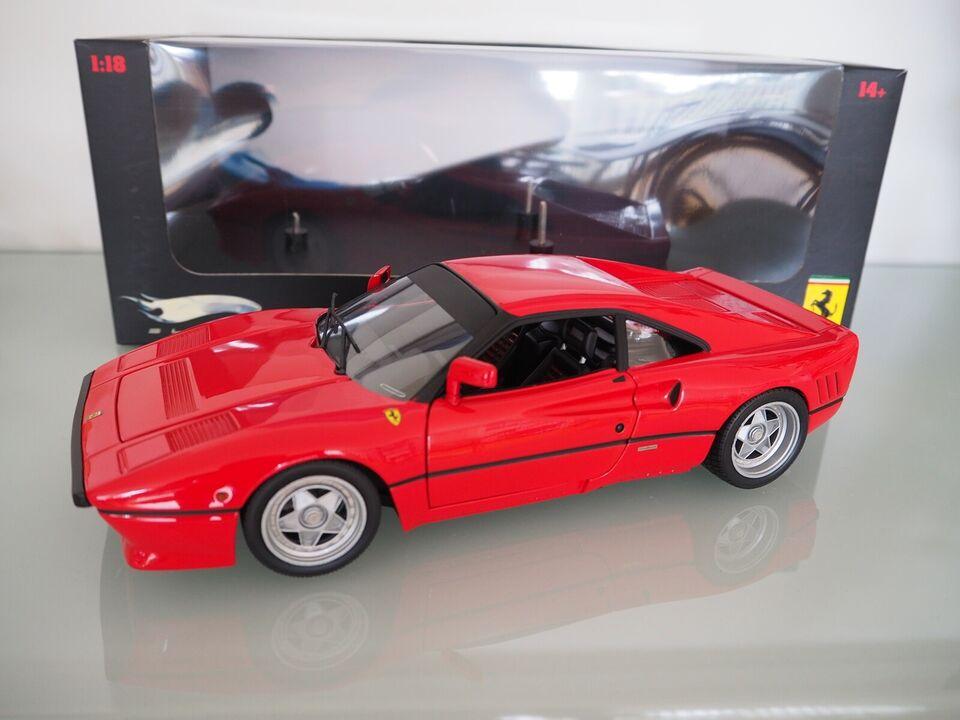 Modelbil, Hotwheels Elite Ferrari 288 GTO, skala 1:18