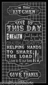 Give-Us-This-Day-PANEL-Quote-Good-Friend-Grateful-Cotton-Novelty-Quilt-Fabric
