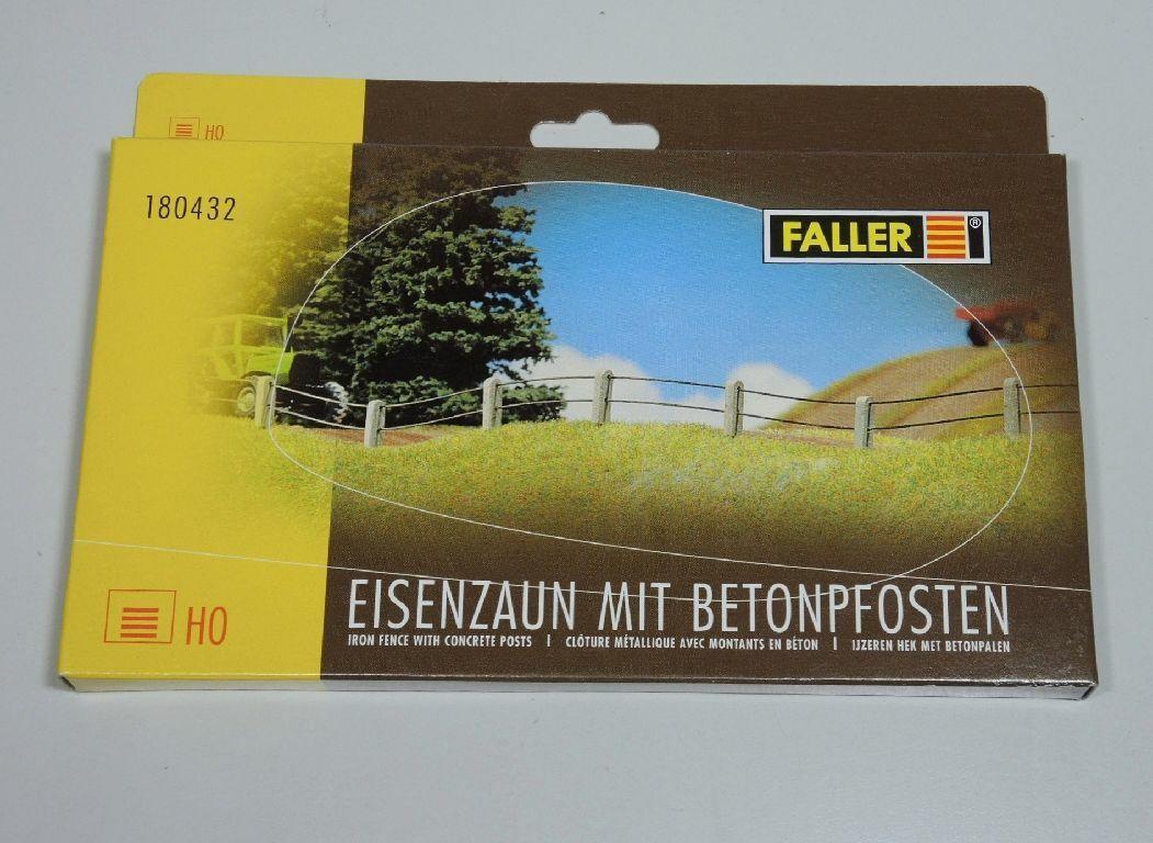 Spur H0 NEU /& OVP + + FALLER 180432 Eisenzaun mit Betonpfosten