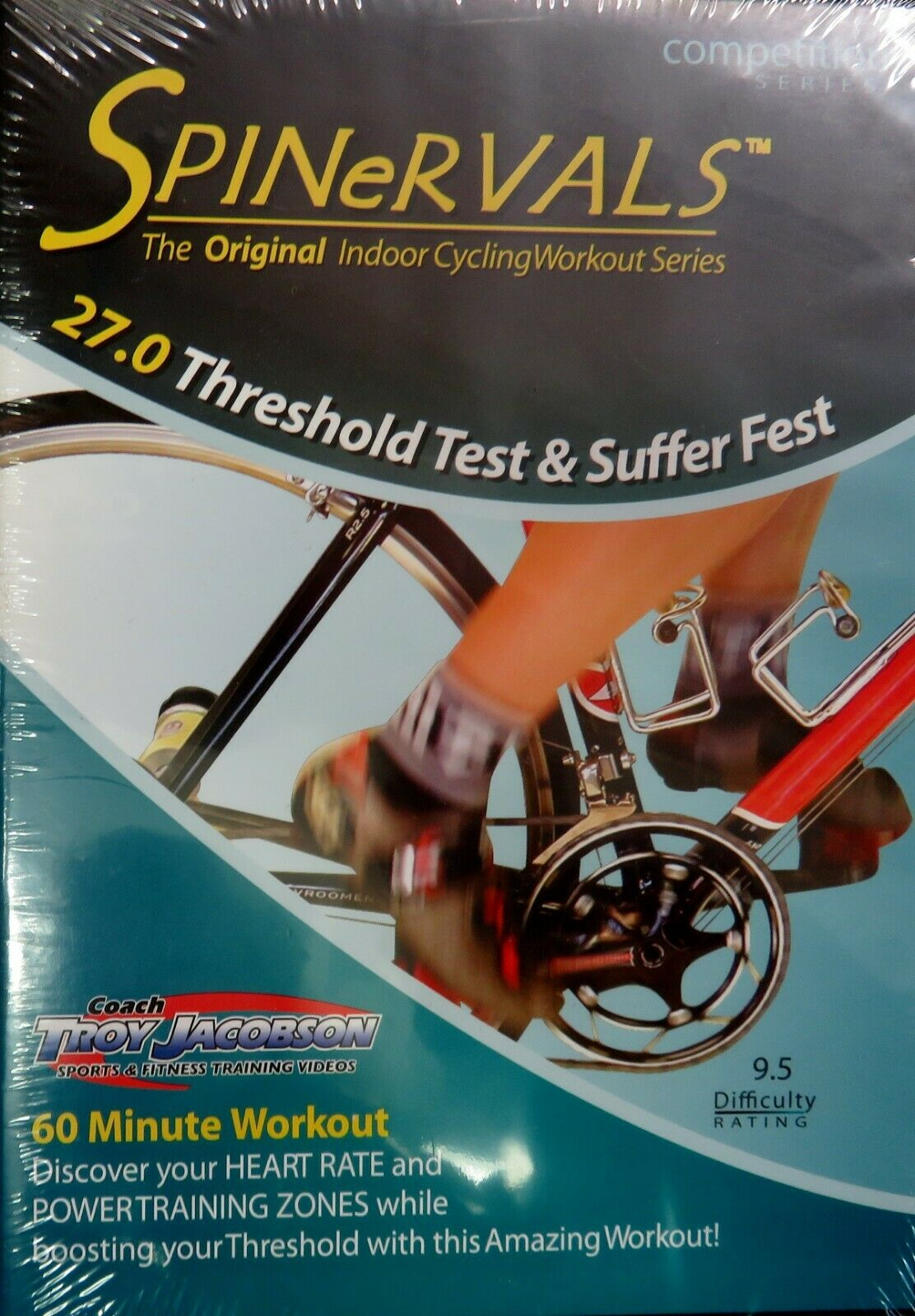 Spinervals Indoor Cycling Workout 27 0 Threshold Test & Suffer Fest DVD 60  Min