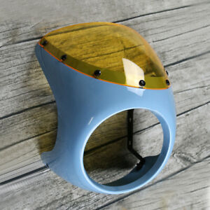 7-034-Motorcycle-Front-Headlight-Fairing-Screen-Cover-for-Retro-Cafe-Racer