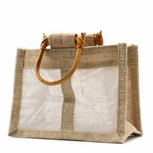 5-x-Two-Small-Jar-Jute-Gift-Bag-Natural-Gift-Bags-With-Handles-And-Window-Eco