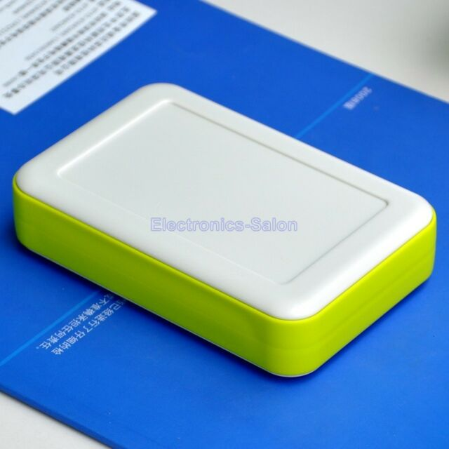 HQ Hand-Held Project Enclosure Box Case, White-Lawngreen, 126 x 81 x 30mm.