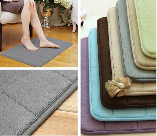 Absorbent Soft Memory Foam Bath Bathroom Bedroom Floor Mat Shower Rug Non-slip D