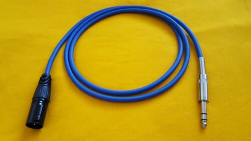 """25 ft male Blue to 1//4/"""" TRS Stereo Balanced Audio Cable Mogami 2549 XLR-M"""
