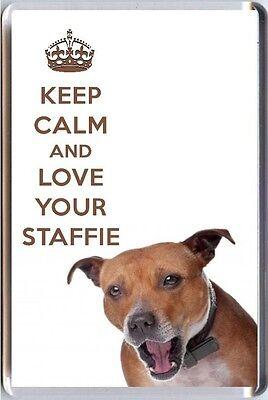 Restez Calme et Aimez Votre westie avec West Highland Terrier Image Aimant frigo