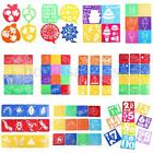 14 Pattern Kid Plastic Picture Drawing Template Stencils Rulers Painting DIY Art