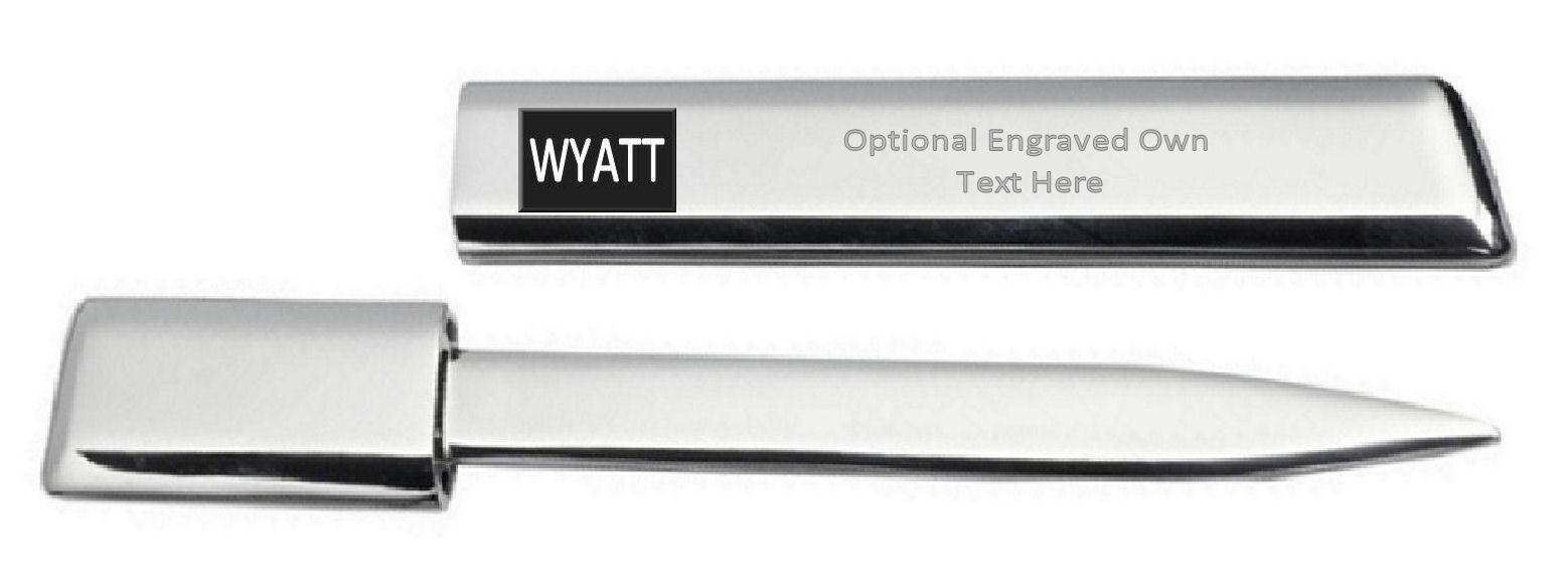 Gravé Ouvre-Lettre Optionnel Texte Imprimé Nom - Wyatt