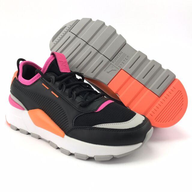 Puma Women's RS-0 Sound Black Shocking Orange Athletic Shoes Size 7 M