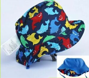 QUALITY-Boys-Toddler-Child-Children-Reversible-Bucket-Sun-Hat-Cap-Wide-Brim