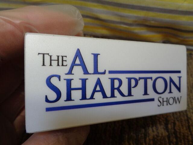 ESTATE SALE  REV AL SHARPTON THE AL SHARPTON SHOW TRIANGLE LOGO MIC FLAG CLIP