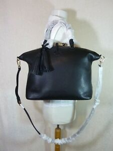 ea63c72f1e21 NWT Tory Burch Black Pebbled Leather Thea Slouchy Satchel -  495 ...
