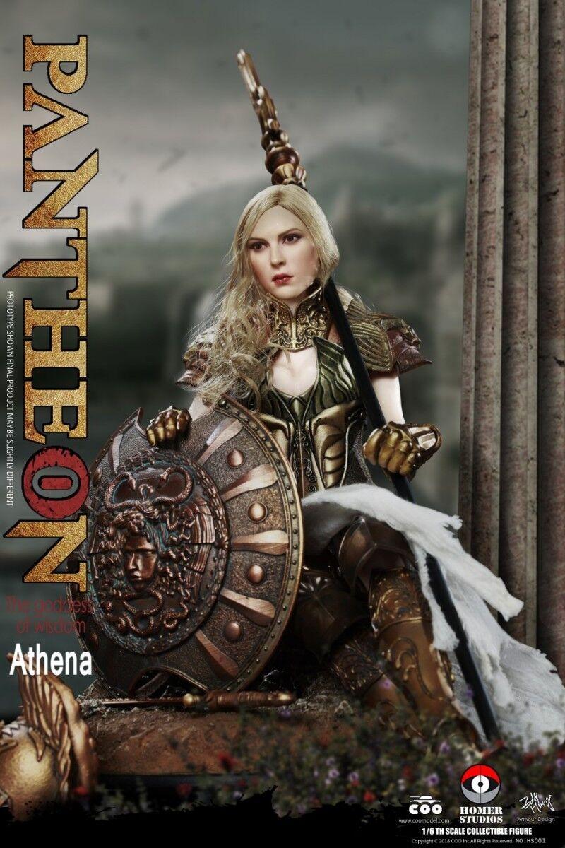1 6 COOMODEL x Homero panthean Athena diosa de la Sabiduría figura colección de HS001