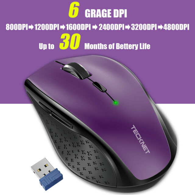 1425603963a Wireless Mouse 4800DPI Adjustable 2.4G USB CordlesOptical Scroll Mice for  Laptop