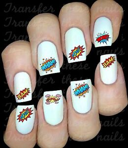 COMIC-SOUNDS-Autocollant-Stickers-ongles-nail-art-manucure-water-decal