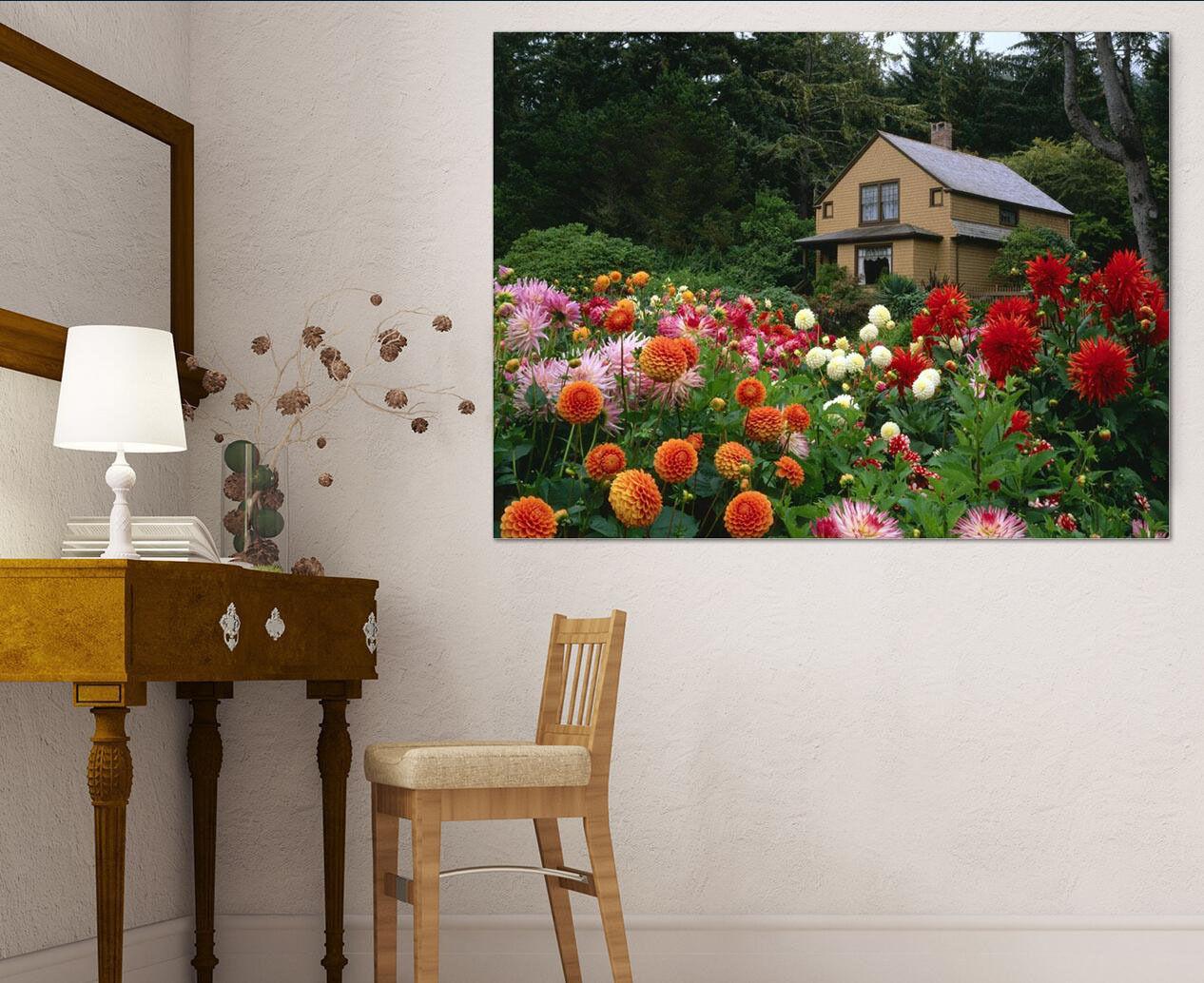 3D Flower House 42 Wall Stickers Vinyl Murals Wall Print Decal AJSTORE UK Lemon
