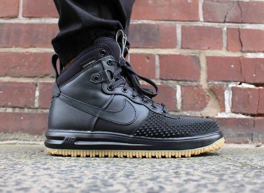 Mens Nike Lunar Force Duckboot 805899-003 Boots Sneakers New, Black 805899-003 Duckboot sku AA b54925