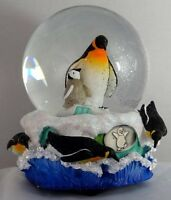 Sculptured Penguin With Young Snow Globe - Water Ball Music Box 5 3/4 High, on sale