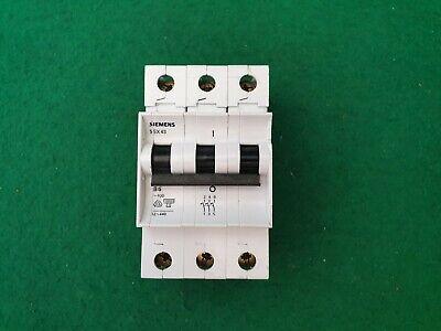 6 Siemens 5SX43 Reja de desminado 3 Polos Tipo C 4 16 amp interruptor de circuito