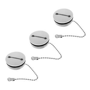 316 Stainless Steel Deck Fill Replacement Cap and Chain Boat Marine Hardware