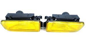 FOG-LIGHTS-YELLOW-GLASSES-BMW-3-SERIES-E36-SALOON-ESTATE-COUPE-LIGHT-PAIR-BULBS