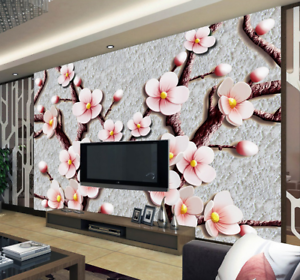 3D Jade Plum Texture 9 Wallpaper Mural Paper Wall Print Wallpaper Murals UK