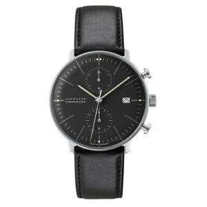 NEW-Junghans-Max-Bill-Chronoscope-Men-039-s-Automatic-Watch-027-4601-04