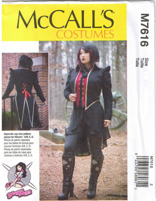 Mccall\'s 7616 Sewing Pattern to Make Cosplay Vest & Tail Coat Jacket ...