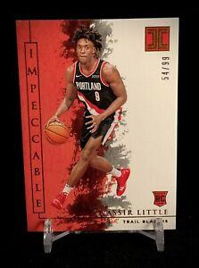Nassir Little 2019-20 Impeccable Basketball Rookie Card /99 Blazers