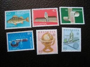 Switzerland-Stamp-Yvert-Tellier-N-1174-A-1177-N-MNH-1178-1179-Nsg-COL1