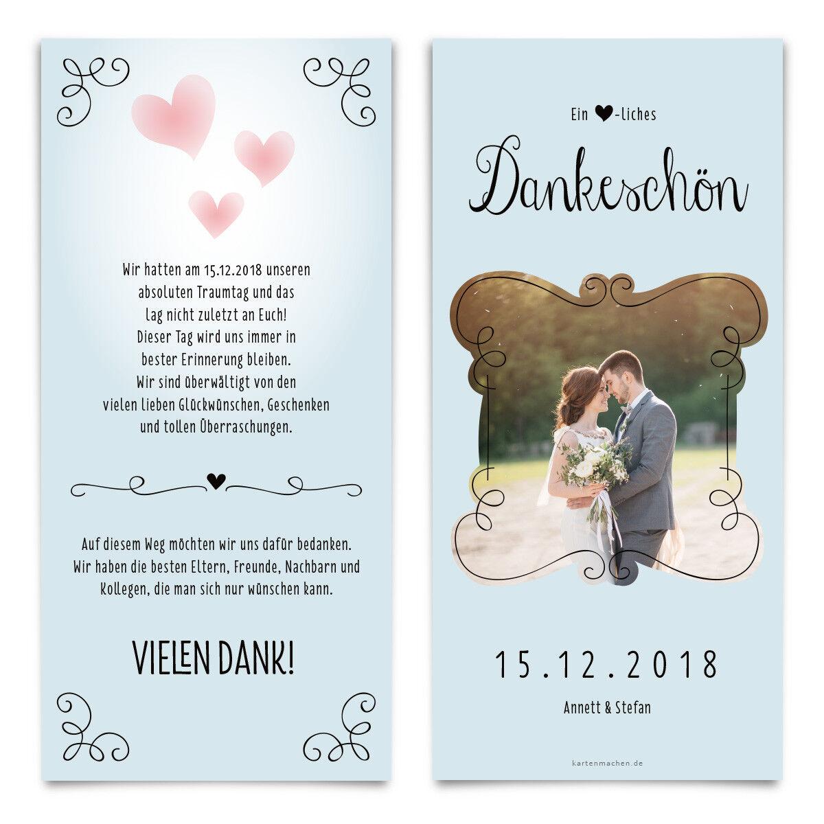 Hochzeit Dankeskarten Danksagung Danksagungskarten Danke Karte - Küssendes Paar