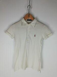RALPH-LAUREN-Maglia-Maniche-Corte-Polo-Shirt-Maglia-Tg-S-Donna