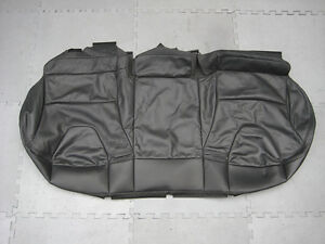 GENUINE VOLVO XC60 REAR SEAT UPHOLSTERY BASE COVER BLACK LEATHER 39827333