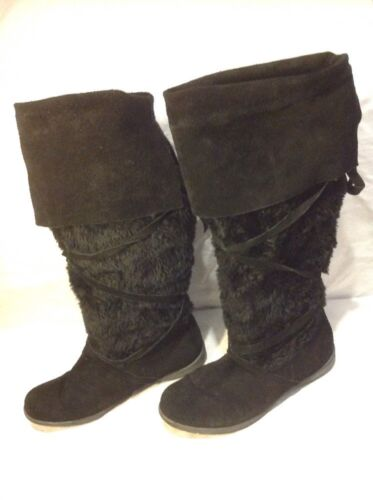 39 Suede E Knee Boots Black High Size Bq7TYpFWT