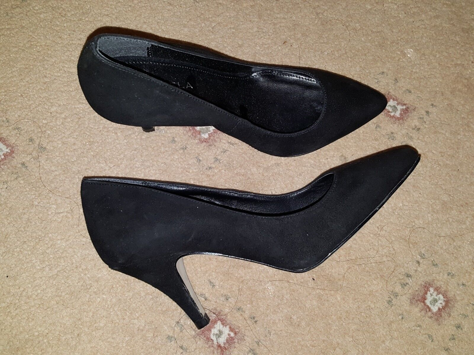 BNWOB carvela Kurt Geiger Negro de cuero cuero cuero de gamuza en Punta Tacones Tribunal Zapatos Talla 3  orden ahora con gran descuento y entrega gratuita