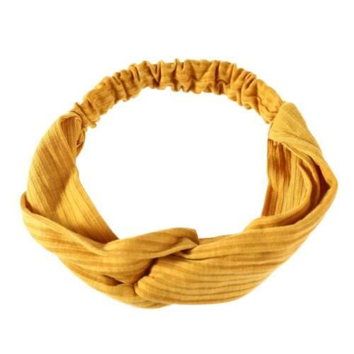 Mode Mädchen gestrickt Baumwolle Twist einfarbig Haarband Stirnband Kopfschmuck
