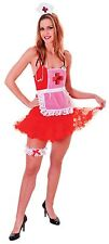 Deluxe Ladies Nurse Set Red & White  Womens Hen Party Halloween Costume