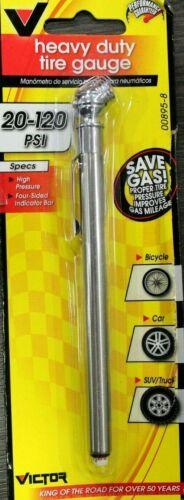 22-5-00895-8 Victor 20 psi 120 psi Pencil Multi-Function Tire Gauge