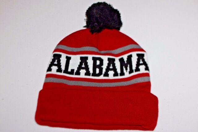hot sale online 3c96c 65a3a ... official store alabama crimson tide adult school color stripes knit hat  cap toboggan with cuff 27c38